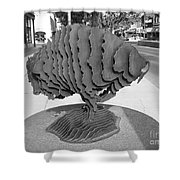 Buffalo Sculpture Grand Junction Co Shower Curtain