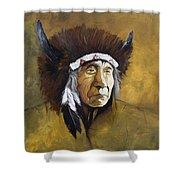 Buffalo Shaman Shower Curtain
