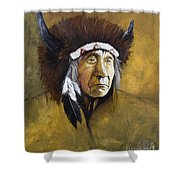 Buffalo Shaman Shower Curtain by J W Baker