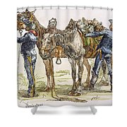 Buffalo Soldiers, 1886 Shower Curtain
