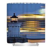 Bug Light Cruise Ship Shower Curtain