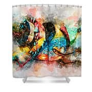 Bug Watercolor Shower Curtain