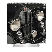Bugatti Type 57 In Black Shower Curtain