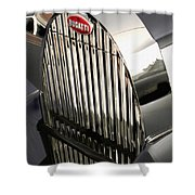 Bugatti Type 57 In Blue And White #2 Shower Curtain