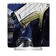 Bugatti Type 57 In Blue And White Shower Curtain
