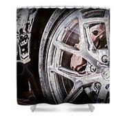 Bugatti Veyron Legend Wheel -0532ac Shower Curtain