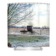 Buggy Alone In Winter Shower Curtain