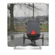 Buggy Ride After The Storm Shower Curtain