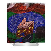 Buggy Ride Under The Stars Shower Curtain