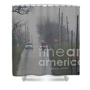 Buggy Travelling Uphill Shower Curtain