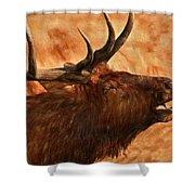 Bugling Bull Elk Autumn Background Shower Curtain