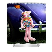 Bugsy Rider Shower Curtain