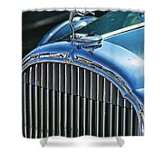 Buick Grill And Hood Ornament Shower Curtain