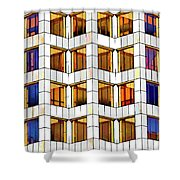 Building Abstract IIid Shower Curtain