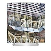 Building Closeup In Manhattan 10 Shower Curtain