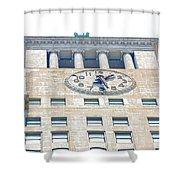 Building Closeup In Manhattan 12 Shower Curtain