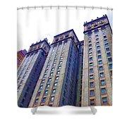 Building Closeup In Manhattan 14 Shower Curtain