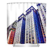 Building Closeup In Manhattan 15 Shower Curtain