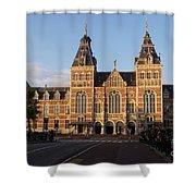 Building Exterior Of Rijksmuseum. Amsterdam. Holland Shower Curtain