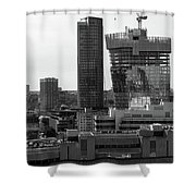 Building In Construction Shower Curtain