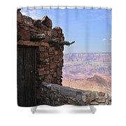 Building On The Grand Canyon Ridge Shower Curtain
