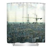 Building Paris Shower Curtain