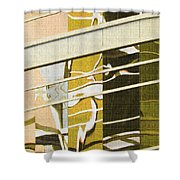 Building Reflection Abstract Color. Shower Curtain