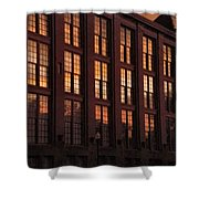 Building Sunsets Shower Curtain