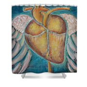 Building Wings Shower Curtain