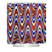 Building With Reflections Abstract Shower Curtain