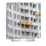 Building Workers Shower Curtain
