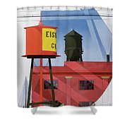 Buildings Abstraction Shower Curtain by Charles Demuth