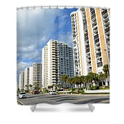 Buildings In Florida Shower Curtain