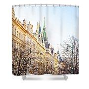 Buildings In Prague Shower Curtain