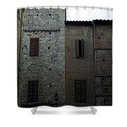 Buildings On A Side Street In Siena Shower Curtain