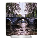 Built 1722. Amsterdam Canals Shower Curtain