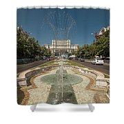 Bukarest Government Palace Shower Curtain