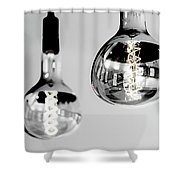 Bulbs - Black And White Shower Curtain