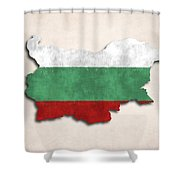 Bulgaria Map Art With Flag Design Shower Curtain