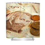 Bulgarian Money Shower Curtain