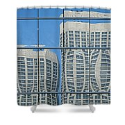 Bulging Shower Curtain