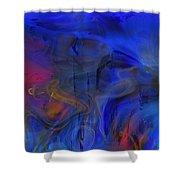 Bull And Cat Azureter Dance Shower Curtain