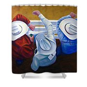 Bull Chute Shower Curtain by Shannon Grissom