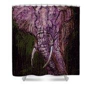 Bull Elephant Shower Curtain