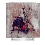 Bull Fight 009k Shower Curtain