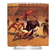 Bull Fight In Mexico 1889 Shower Curtain