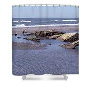 Bull Island 1 Shower Curtain