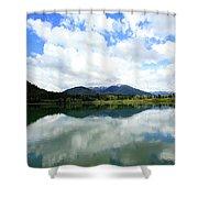 Bull Lake Reflection Shower Curtain