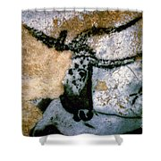 Bull: Lascaux, France Shower Curtain