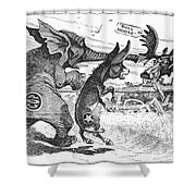 Bull Moose Campaign, 1912 Shower Curtain by Granger